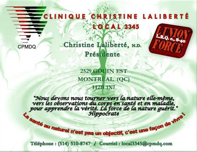 postcard photo internet clinique Christine Laliberté